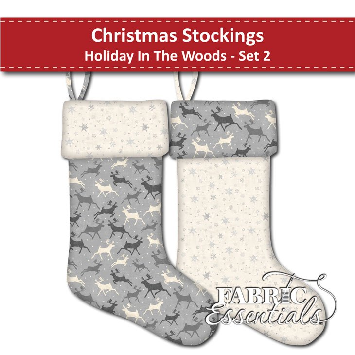 Holiday in the Woods - Christmas Stockings - Set 2