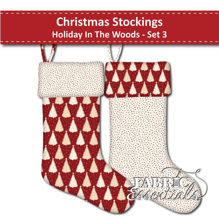 Holiday in the Woods - Christmas Stockings - Set 3