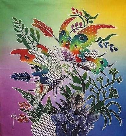 Batik Panel - Butterfly Fancy - 18 x 20 - BF35