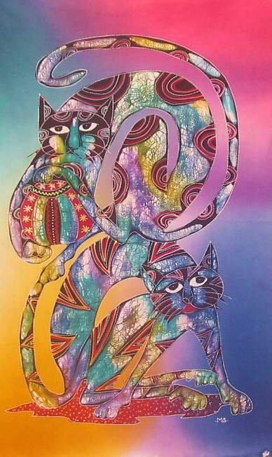 Batik Panel - Cats - 18 x 27 - CT125 METRO CATS2