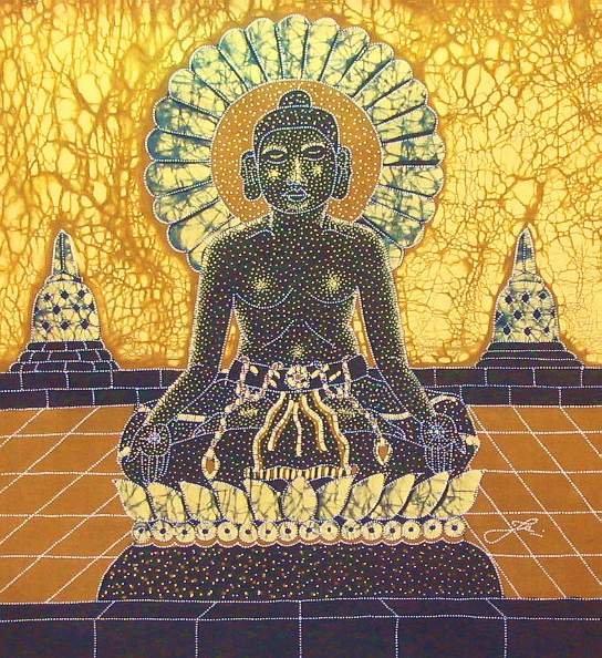 Batik Panel - Enlightenment - 18 x 20 - PE21