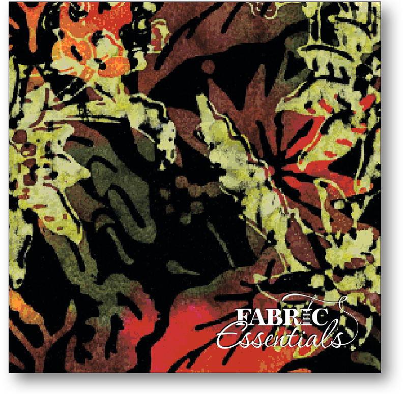 Benartex - Batiks - Tuscan Garden Balis - Foliage - 1975-99 Black