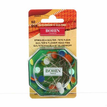 Bohin - Flower Head Pin Fine Sharps - Miulti Size 32 - 2in 50ct - 26661