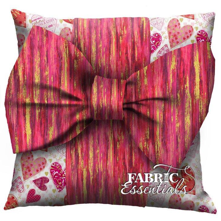 Valentines White - Big Bow Pillow Kit!