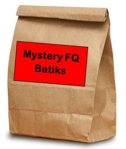 Brown Bag Bonanza - Mystery Fat Quarters - Batiks - Choose 10 20 or 30 Fat Quarters!