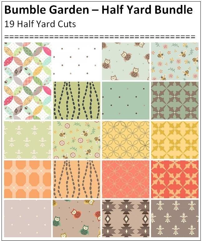 Bumble Garden Half Yard Bundle - 19 Half Yard Cuts