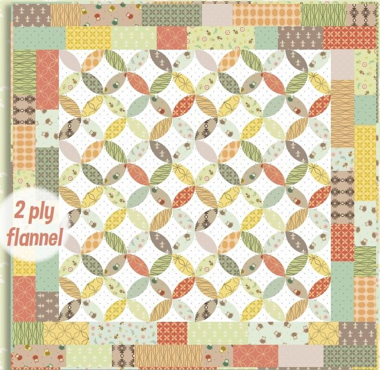 Henry Glass - Kim Diehl - Bumble Garden FLANNEL Quilt KIT - Includes