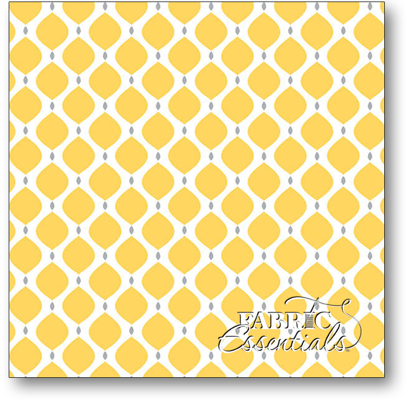 Camelot Cottons - Gray Matters More - 4140413-02 - Geometric - Yellow