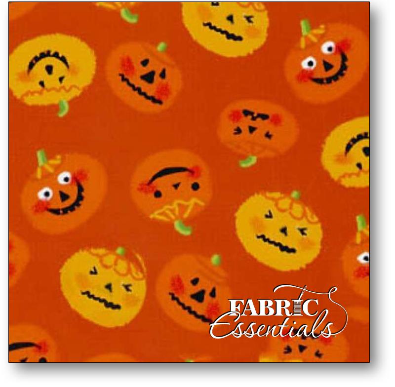 Camelot Cottons - Trick or Treat - Orange Pumpkins - 21414-1