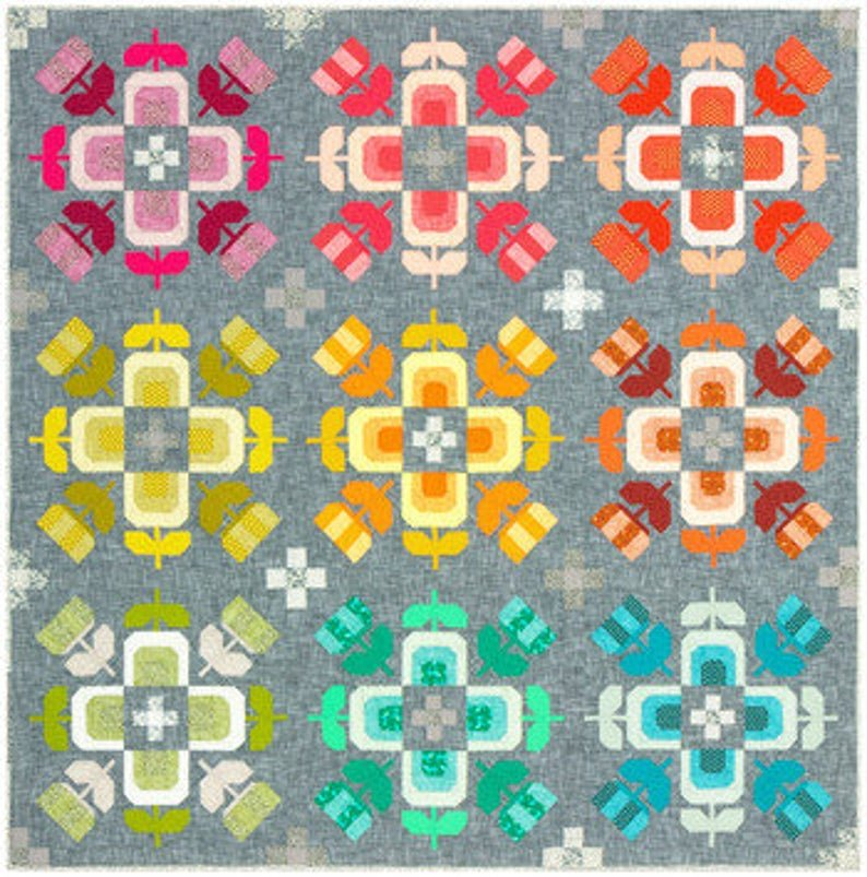Robert Kaufman - Elizabeth Hartman - Library - Casserole Quilt Kit Quilt Kit!