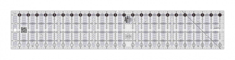 Creative Grids - Non-Slip Quick Trim & Circle Ruler XL - 4.5in x 24.5in - CGRMT5