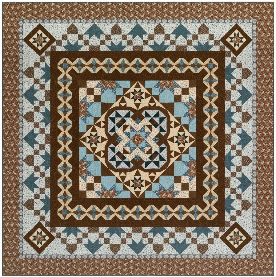 Charlotte's Medallion BOM Quilt - Includes Backing & TWO FREE Pillowcases!