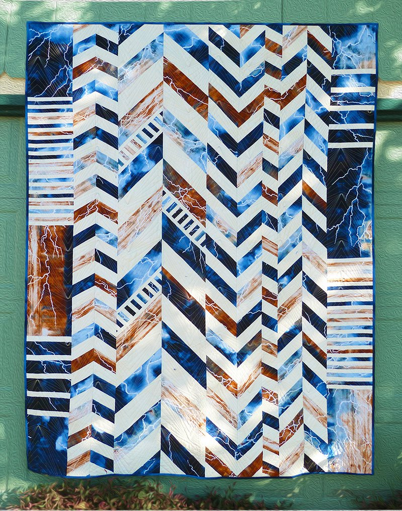 Chevron Cocktail KIT - In the Canyon - 178C Brown & Blue