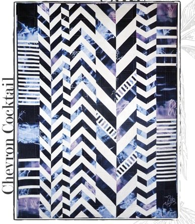 Chevron Cocktail - Phenomenon - 178A Blue & Black