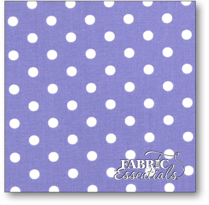 Choice Fabrics - Dots - BD-49778-A01 - White on Lilac - BOLT END - 16in