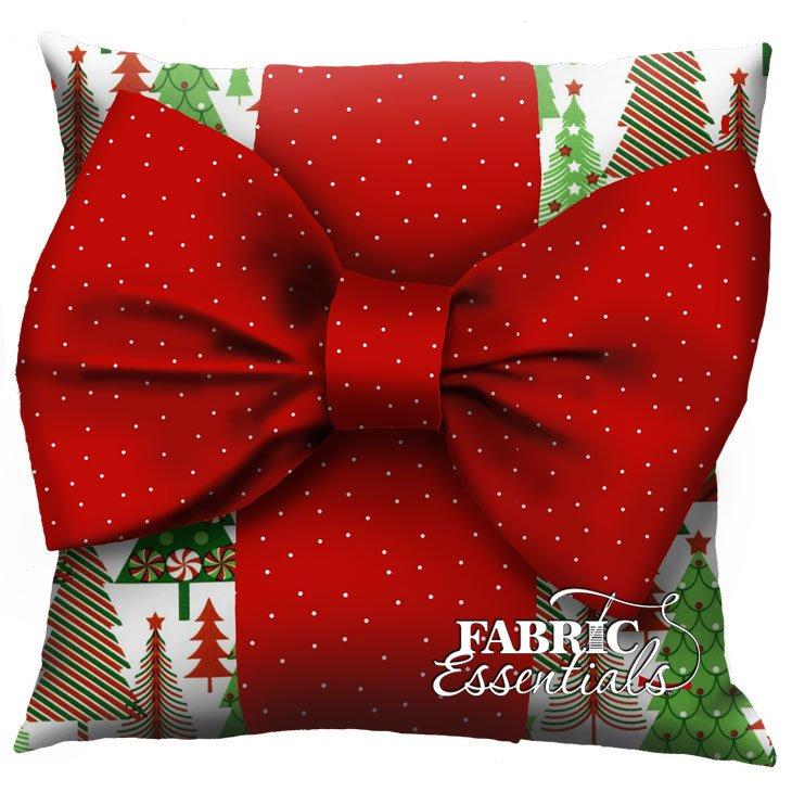 Christmas Tree - Big Bow Pillow Kit!