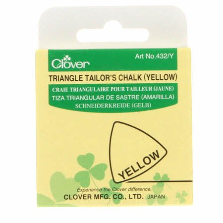 Clover - Triangle Tailor's Chalk - Yellow 432CV-YLW