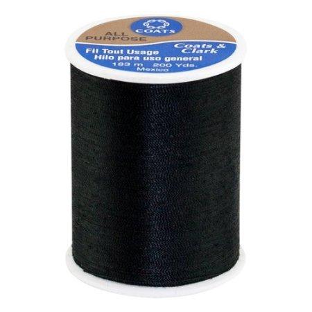 Coats & Clark - Polyester Thread - 200 Yd Spool - Black