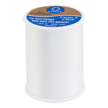 Coats & Clark - Polyester Thread - 200 Yd Spool - White