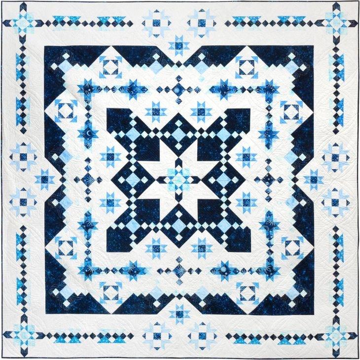Mid Winter Blues BOM - Island Batik Version - Includes Backing!