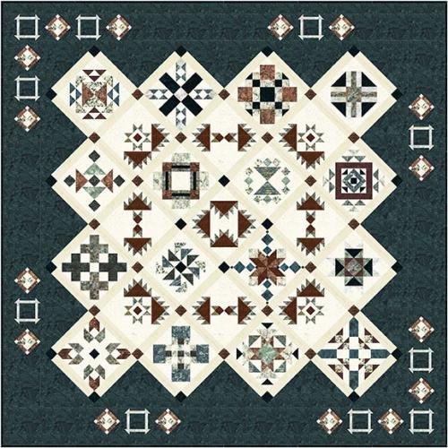 Copper Canyon - Batik BOM Quilt - Includes Backing!