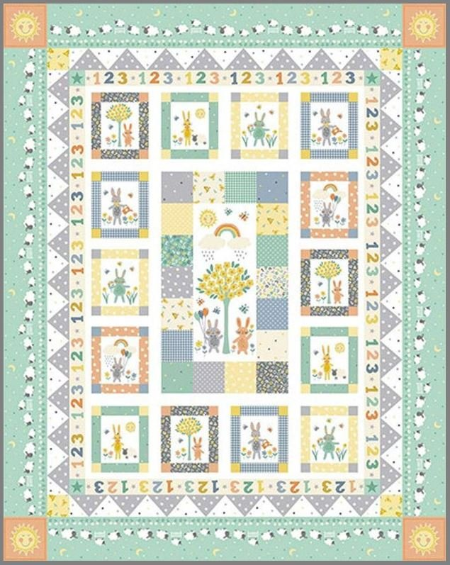 Counting Sheep Quilt Kit - Includes Backing!