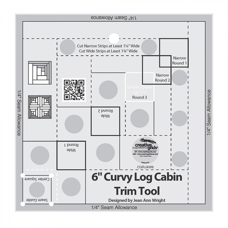 Creative Grids - 6 Curvy Log Cabin Trim Tool - CGRJAW6