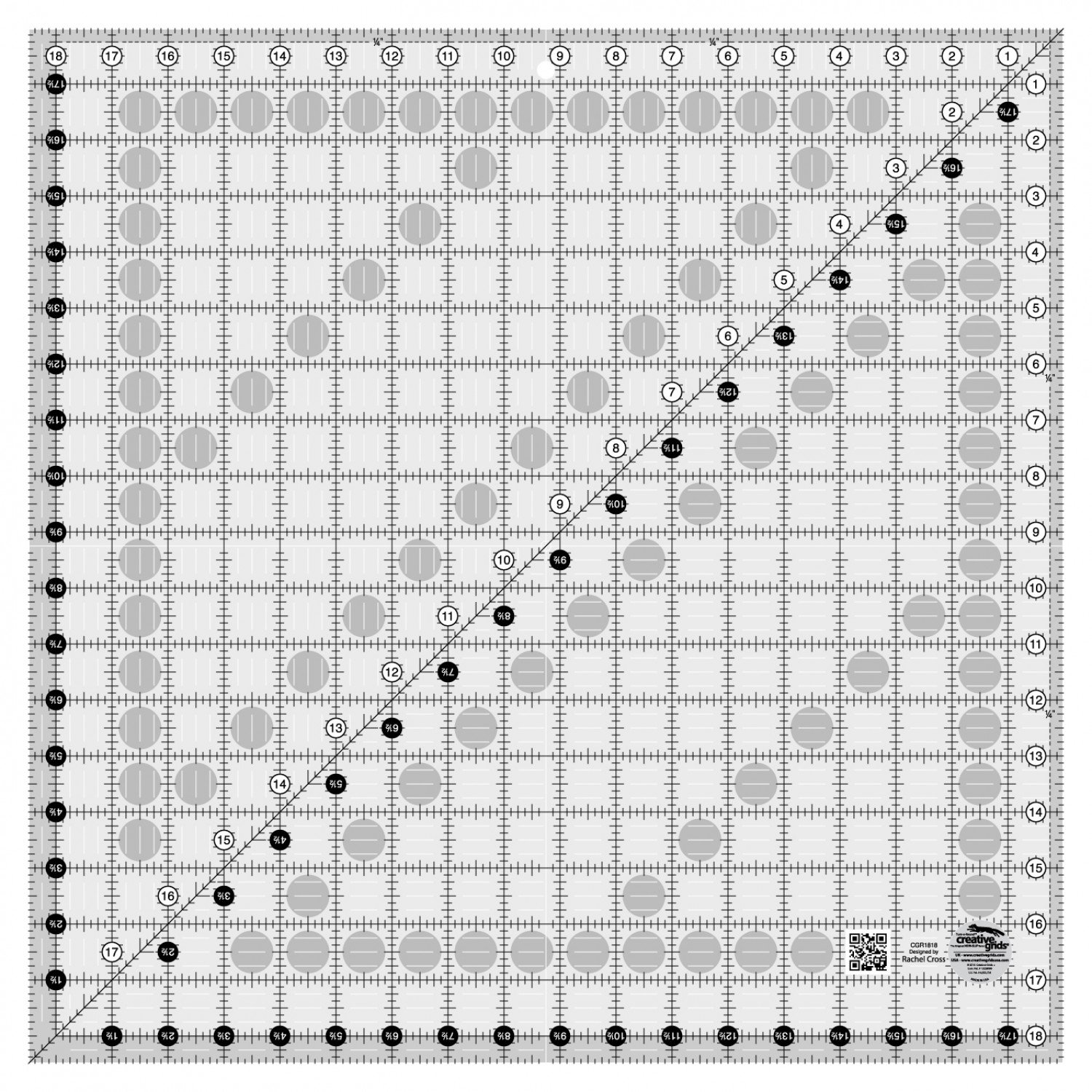 Creative Grids - Quilting Ruler 18 1/2in Square - CGR1818
