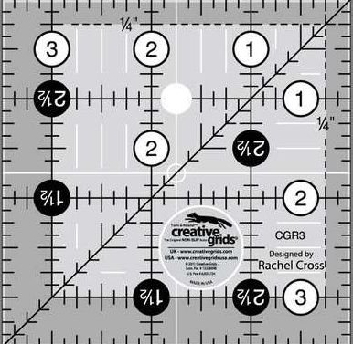 Creative Grids - Quilting Ruler 3 1/2in Square CGR3