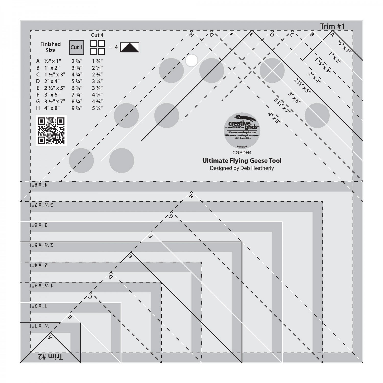 Creative  Grids - Ultimate Flying Geese Tool - CGRDH4