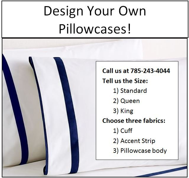 Lush - Pillowcase - Three Sizes!  WE WILL CUSTOMIZE TO YOUR REQUIREMENTS!