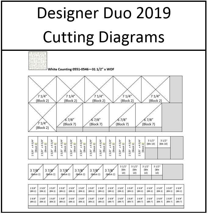 Designer Duo 2019 - Mix It Up - SAVE TIME with Cutting Diagrams for Nancy Rink's Version
