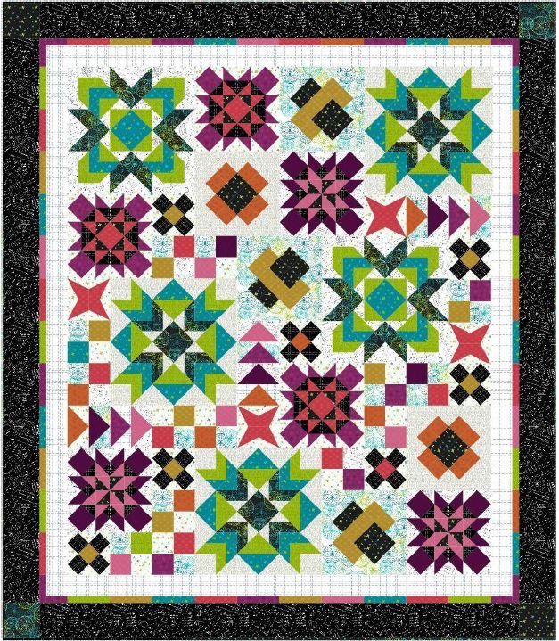 Designer Duo 2019 - Mix it Up - Quilt KIT + Pattern Booklet + Cutting Diagrams!
