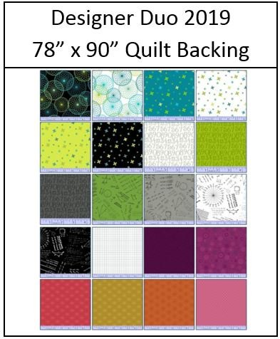 Designer Duo 2019 - 78 x 90 BACKING Package!