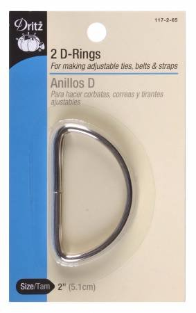Dritz - D Rings Silver 2in 2ct - 117-2-65