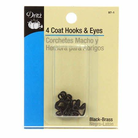 Dritz - Hooks & Eyes Coat 4 ct Black - 97-1