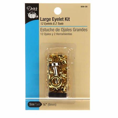 Dritz - Large Eyelet Kit Gold - 659-35