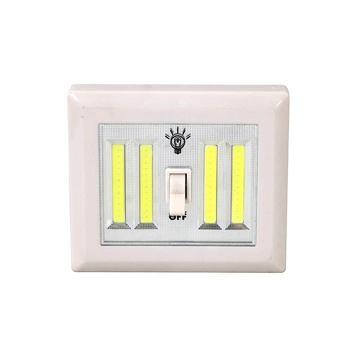 COB LED Ultra Bright LED Night Light with Switch - BATTERIES INCLUDED!