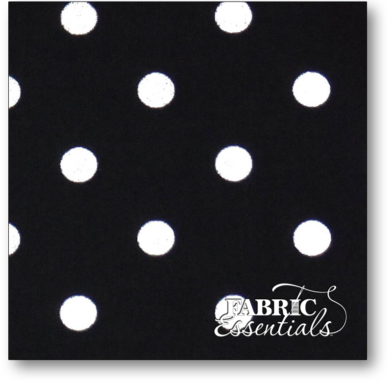Dunroven Toweling - 860-255 - Black and White Polka Dot