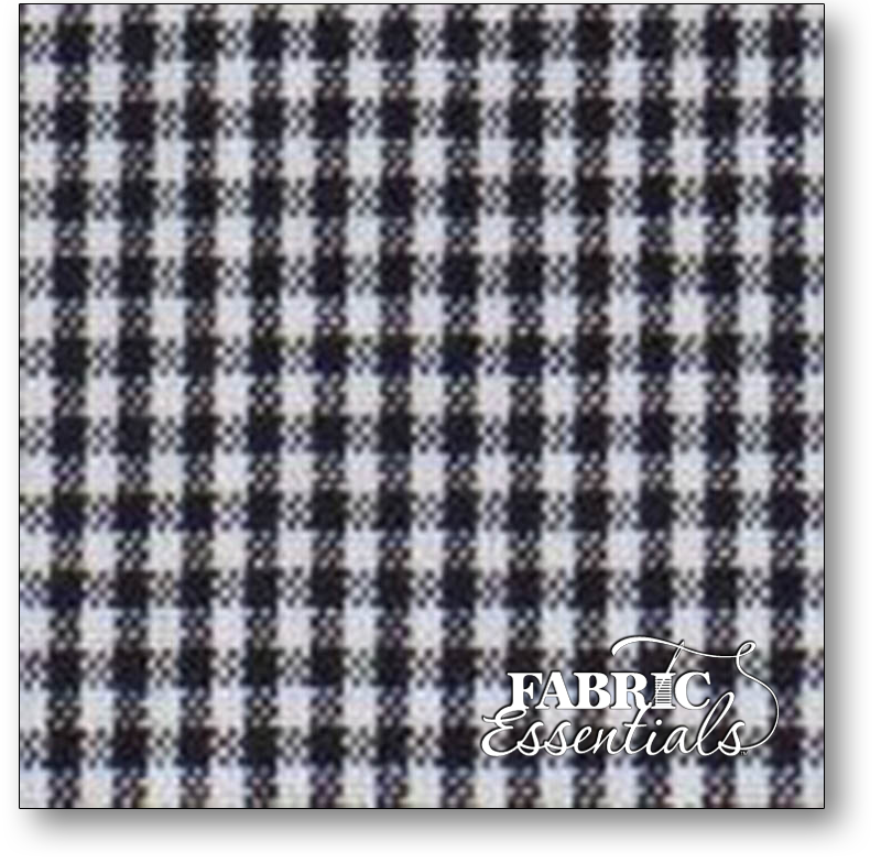 Dunroven Toweling - 860-110 - Mini Check - Black and White - 16in wide - Hemmed on sides!