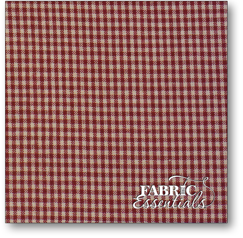 Dunroven Toweling - 860-100 - Mini Check - Red and Tea Dye