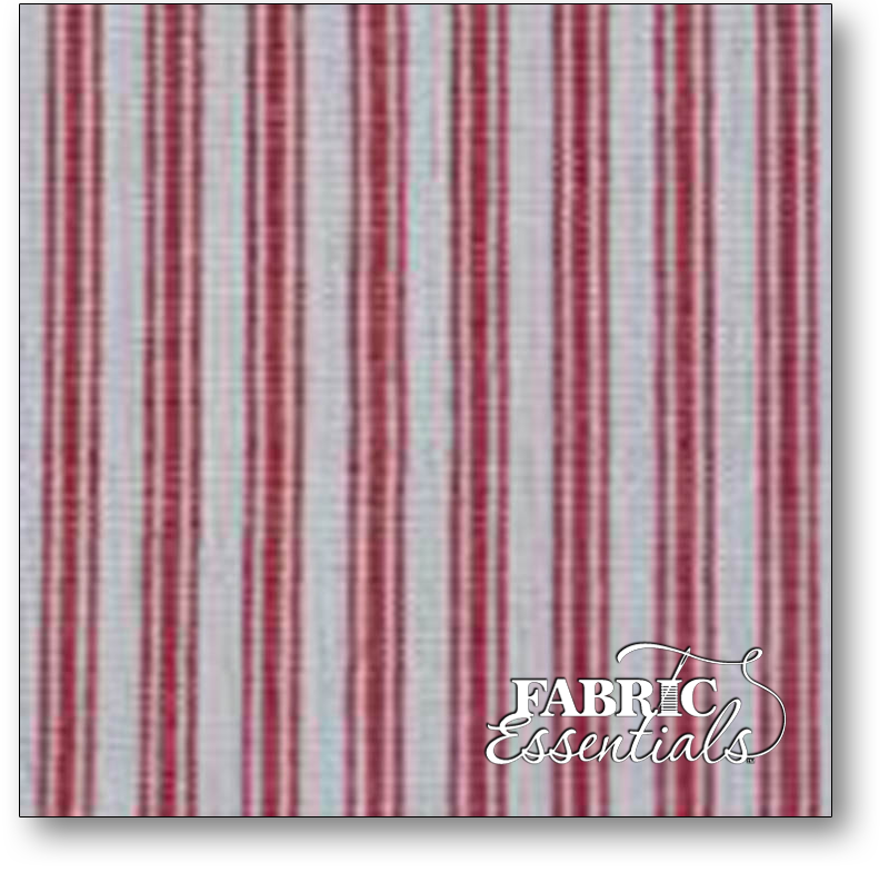 Dunroven Toweling - 860-230 - Ticking - Red and White