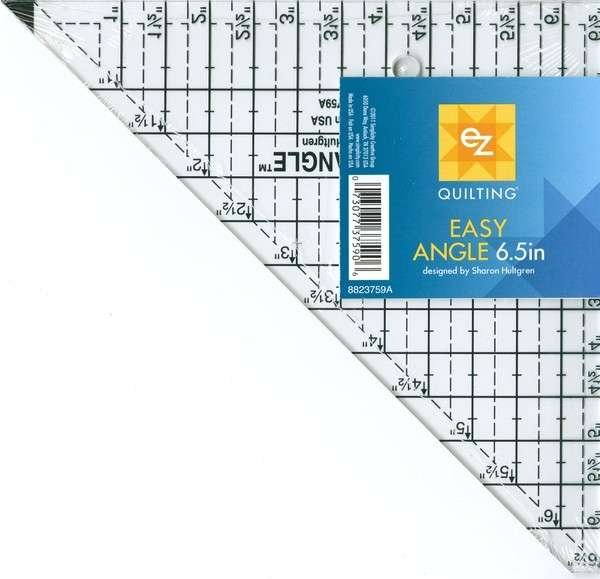 EZ Quilting - Easy Angle Ruler - 6.5in - 8823759A