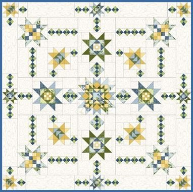 Elegant Stars BOM Quilt - Queen or King!
