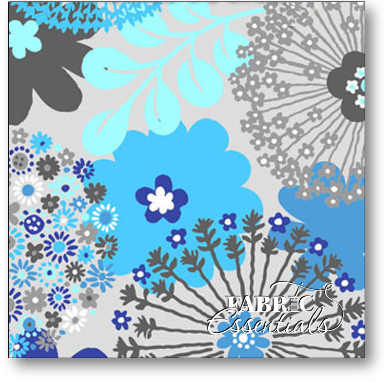 Exclusively Quilters - Sapphire - Large Floral - 3930-60042-80 White - BUY THE BOLT - 8IN
