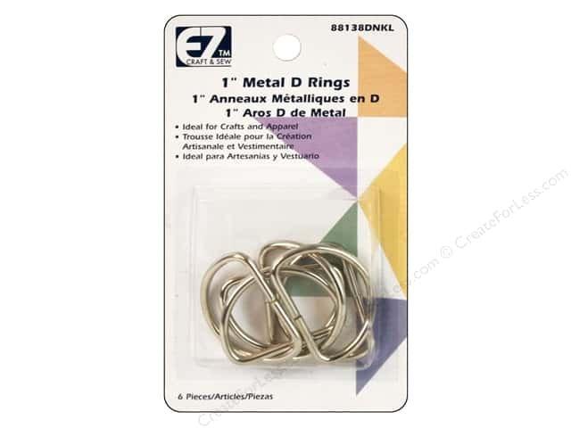 EZ Quilting - 1in Metal D Rings - 88139D
