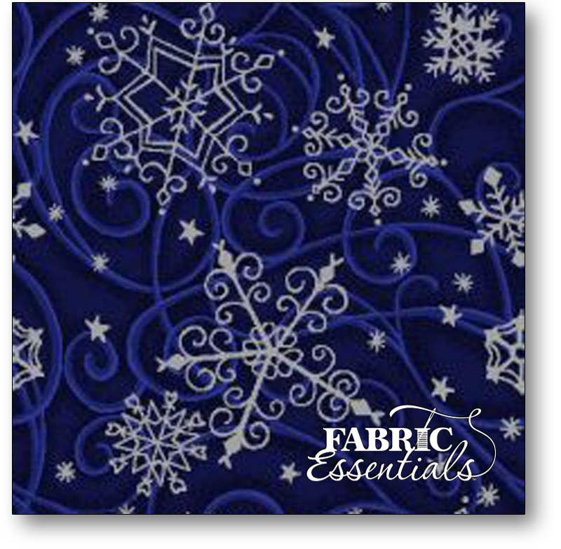 Fabri-Quilt - Snowflakes - 103-36101 Blue (1 in Snowflakes)