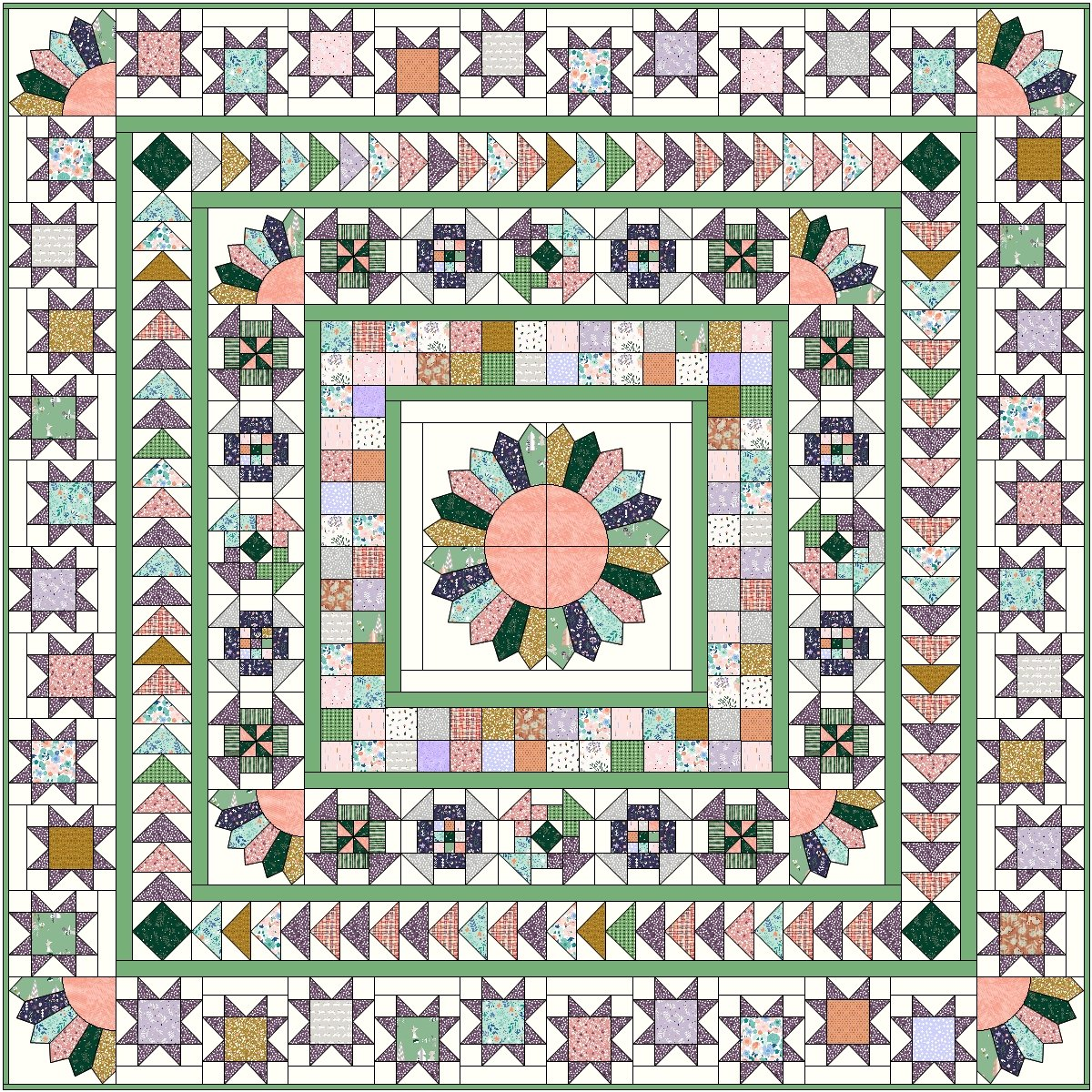 Forest Talk Medallion BOM Quilt!