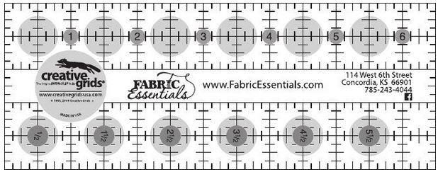 Creative Grids - Fabric Essentials Ruler - 2.5in x 6.5in