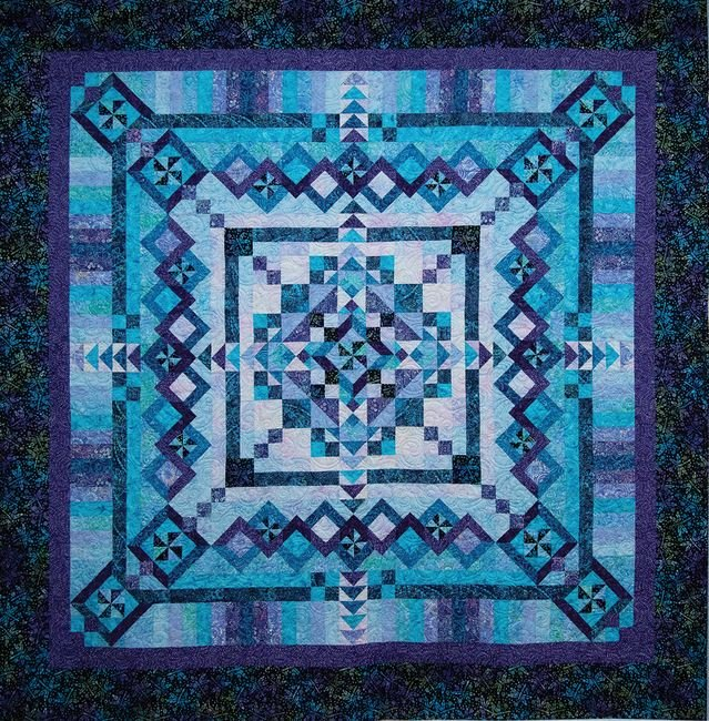 Tonga Fantasy Batik BOM Quilt - Includes Backing